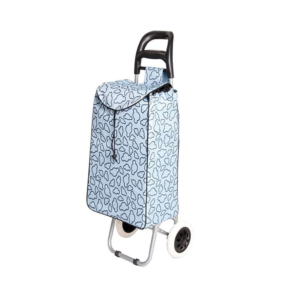 ショッピングカートショッピングトロリーショッピングバッグ収納袋荷物カートグロサリー折り畳み式カート車輪付きトロリー B07KN3G7G6