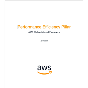 Performance Efficiency Pillar: AWS Well-Architected Framework (AWS Whitepaper)