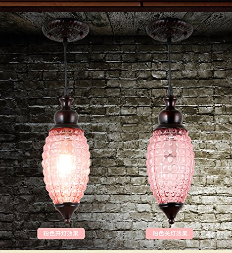 Pink Glass Light Pendant
