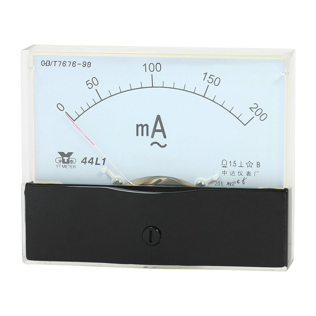 Medidor analó gico de gran calibre amperí metro AC rango de medició n 0-200mA 44L1 Sourcingmap a14050600ux0488