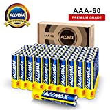 ALLMAX All-Powerful Alkaline Batteries - AAA (60-Pack) - Premium Grade, Ultra Long Lasting and Leak-Proof with EnergyCircle (1.5 Volt)
