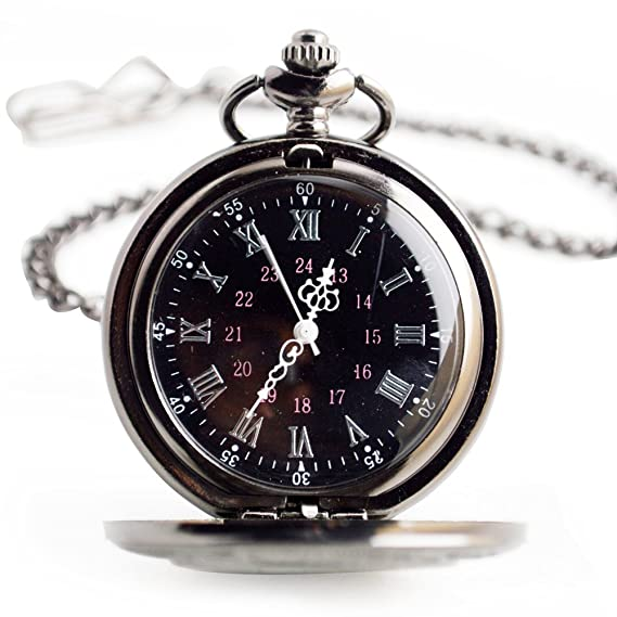 Reloj de bolsillo reloj de bolsillo de cuarzo Reloj de bolsillo número romano retro clásico Reloj