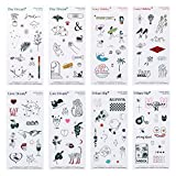 Instant Tattoo, More Realistic New Temporary Tattoos for Women (All (4-design))