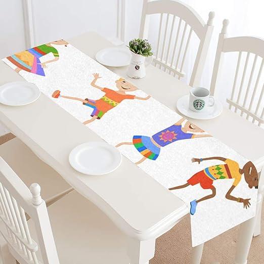 XiexHOME Camino de Mesa de Comedor para niños y niñas, Lindos ...