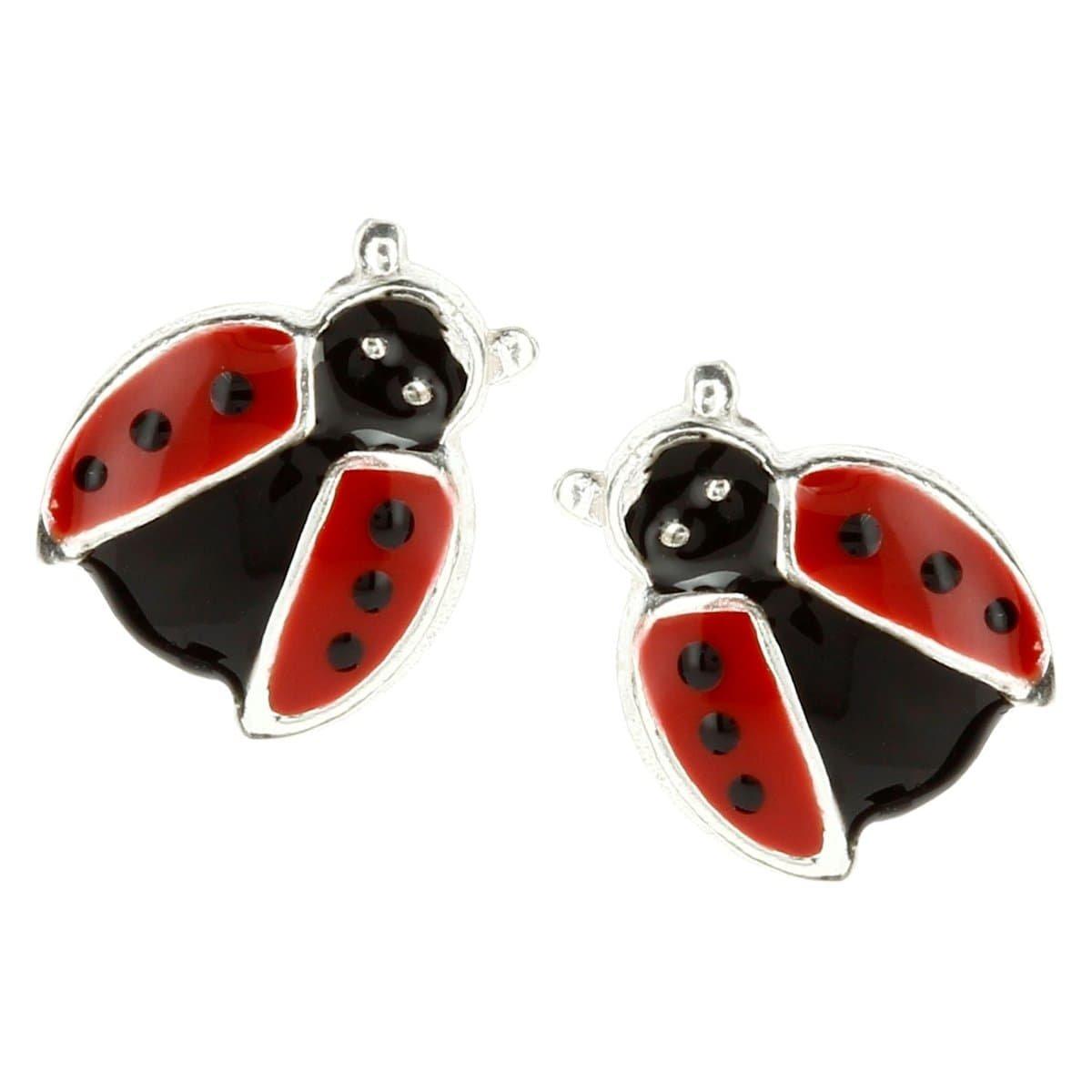 So Chic Jewels Girls Sterling Silver Ladybird Stud Earrings