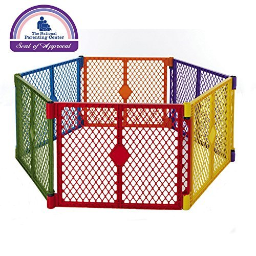 North States Color Superyard Baby/Pet Gate & Portable Play Yard - 6 Panel | 8769 from North States