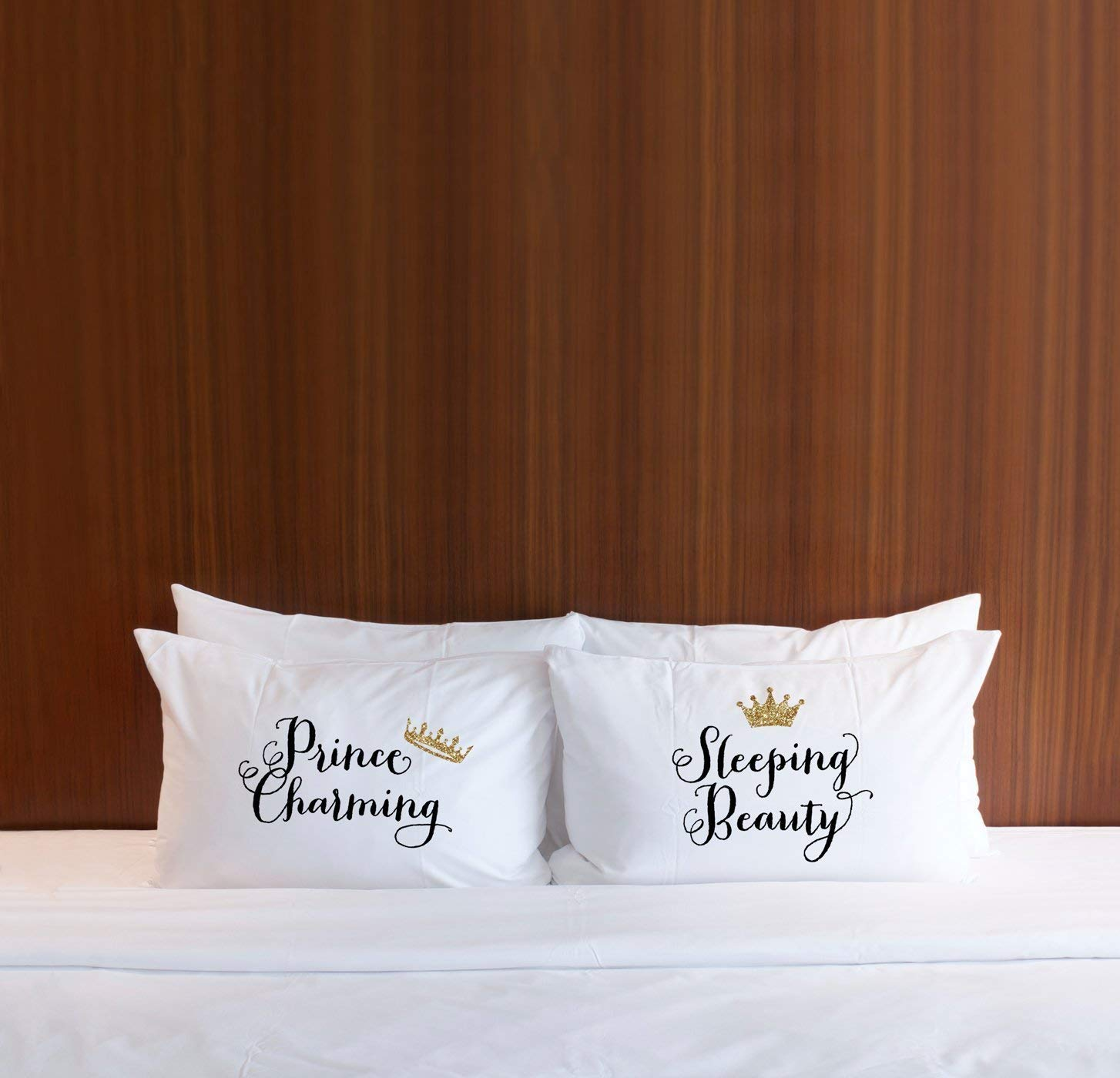 Fairytale Pillowcases Gift for Her or Him Anniversary Wedding Engagement or Bridal Shower Gift Idea for the Couple Standard Pillowcase Queen Size Set of 2