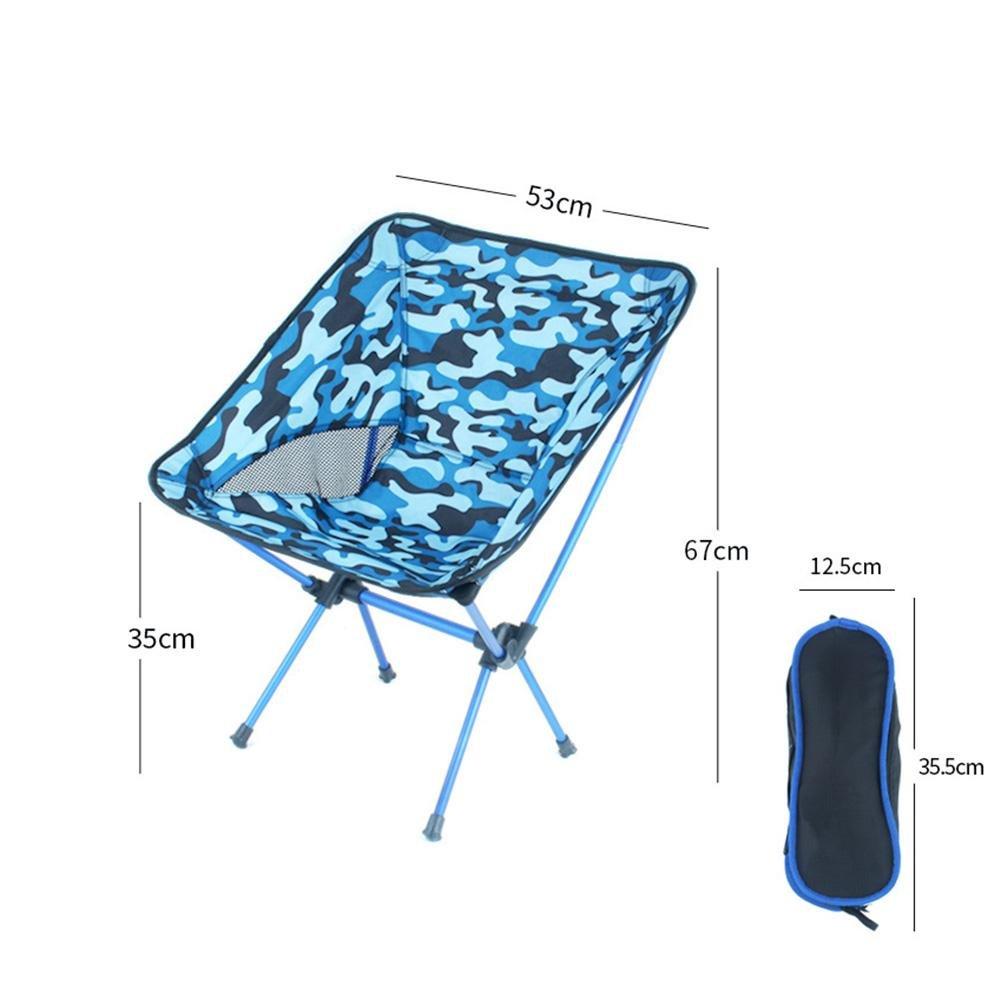 Tragbarer Faltbar Camping Stühle Campingstuhl Klappstuh Freizeitstuhl Campingstühle Strandstuhl stark und haltbarer Ultraleichter mit Tragetasche für Wandern, Strand, Freien(21
