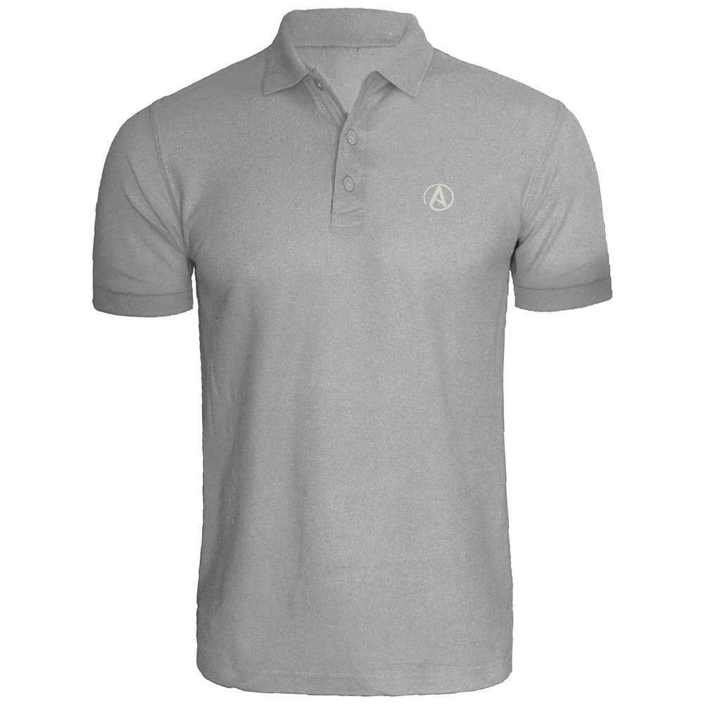 Mens Atheist Symbol Embroidery Embroidered Polo Shirts