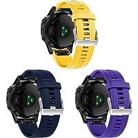 Gransho Pulseira de Relógio compatível com Garmin Fenix 5/5 Plus/Fenix 6/6 PRO/Quatix 5, Bandas de Reposição Esportiva…