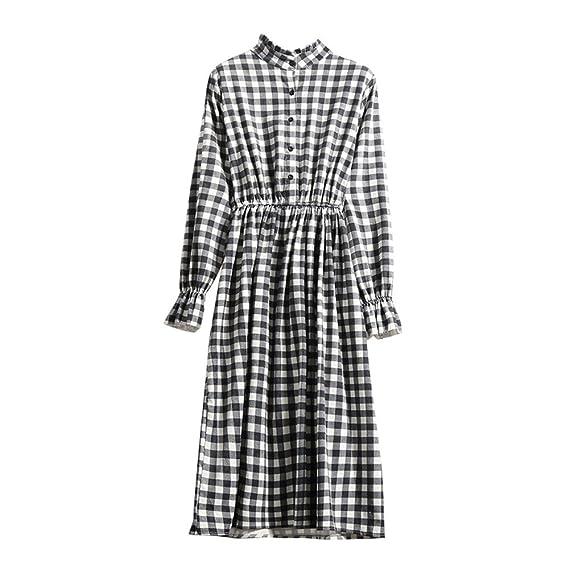 BBestseller-Vestidos Fiesta Vestir Ropa Falda Mujer Otoño Largo de la Camisa de Las señoras