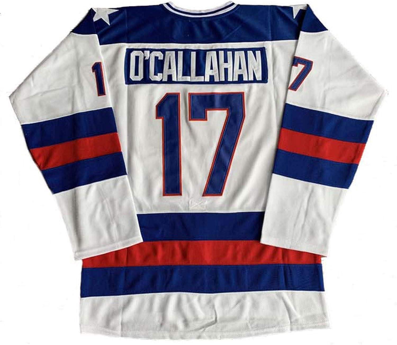 1980 Olympic Team USA Hockey 17 Jack O'Callahan 21 Mike Eruzione 30 Jim Craig Miracle On Ice USA Hockey Jersey