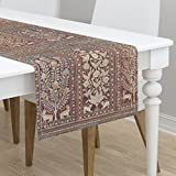Table Runner - Wood Panels Medieval Renaissance Tudor Animal Tree by Peacoquettedesigns - Cotton Sateen Table Runner 16 x 72