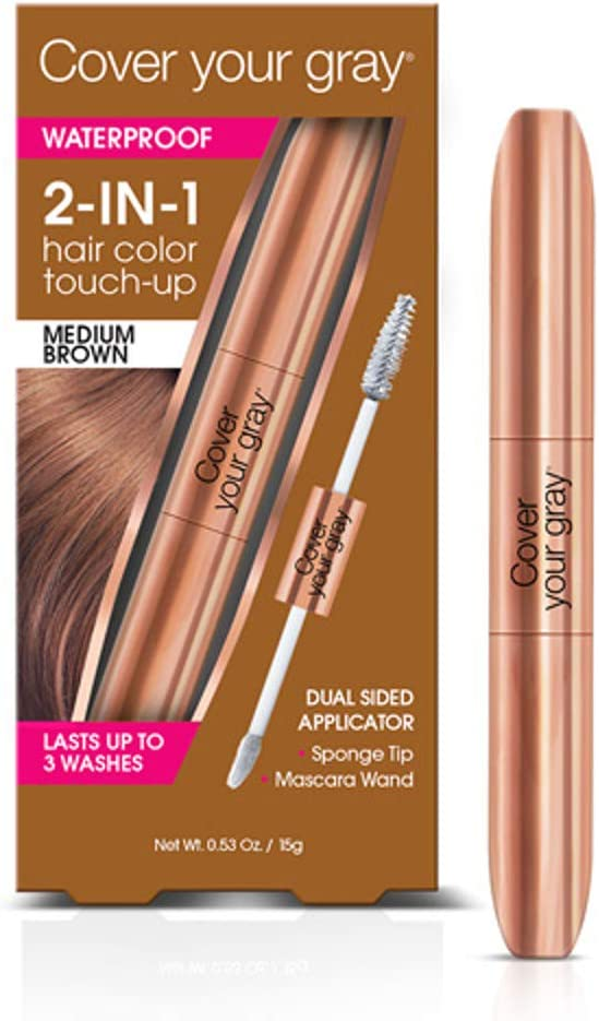 Cover Your Gray impermeable 2 en 1 pelo color Touch Up oro ...