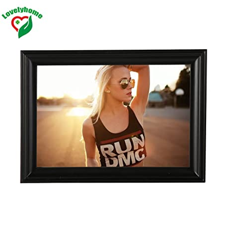 Amazon Popular Wall Or Tabletop Wooden Black Picture Frame