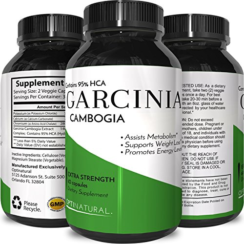 Purest Garcinia Cambogia Extract with 95% HCA – Highest Gr