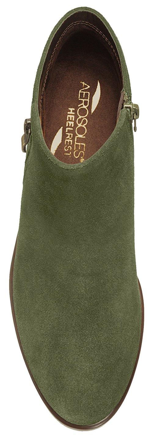 Aerosoles Women's Mythology Boot B073HYDGTQ 6 W US|Dark Green Suede
