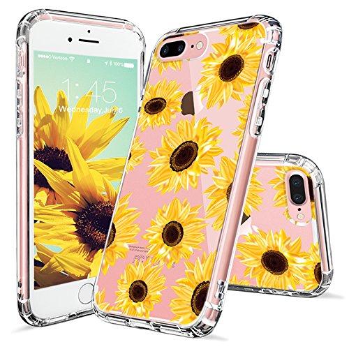Sunflower Protective Case (iPhone 7 Plus Case, iPhone 8 Plus Case, iPhone 7 Plus Case for Women, MOSNOVO Floral Flower Sunflower Pattern Clear Design Case with TPU Bumper Cover for iPhone 7 Plus (2016) / iPhone 8 Plus (2017))