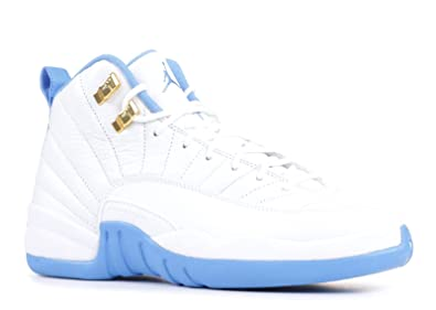 sports shoes f4daf a4662 Jordan Kid's Air 12 Retro GG, White/Metallic Gold-University Blue