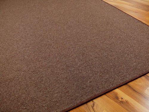 STRONG Feinschlingen Velour Teppich Dunkelbraun in 24 Größen, Größen, Größen, Größe 133x133 cm B008FO4GS0 Teppiche dacdec