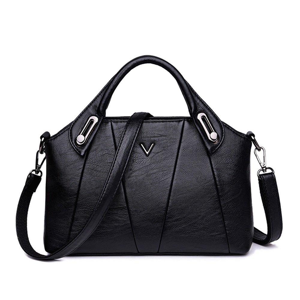 Shoulder Bag With Single Shoulder Bag,Black,28X18X9Cm
