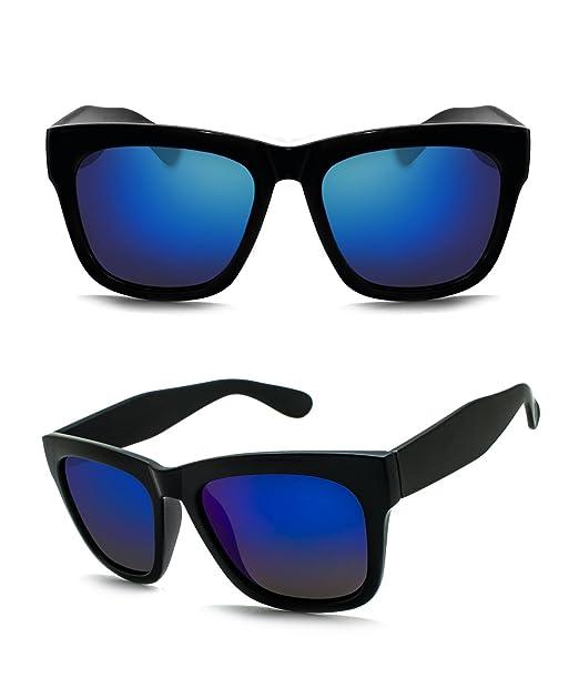 Gafas de sol polarizadas de protección UV moda grande con gamuza de limpieza, bolsa de