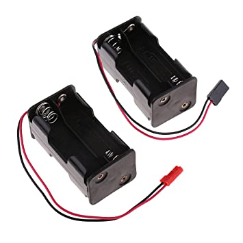Baoblaze 2pc Rc Aa Battery Holder Box Case For Helicopters Aircraft