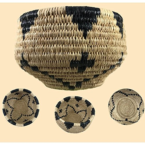 Traditional Coiled Basket Weaving Kit (makes one 4in. Basket, Expanded version) by Wildwoods Craft Kits