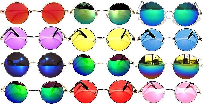 b1f7abb46db Retro Round Circle Colored Vintage Tint Sunglasses Metal Frame Spring hinge  OWL (12p Mix 43mm 56mm 60mm