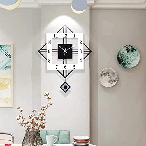 YIYIZHANG Creative Diamond Wall Clock Wall Column Pendant Background Wall Decoration Clocks Nordic Fashion Living Room Wall Numeral Clock Size : 5872cm