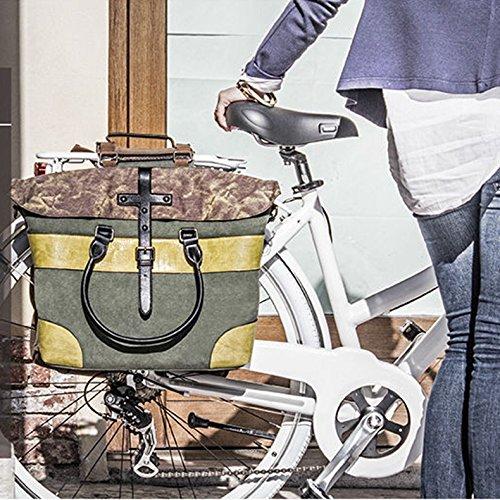 Ros Lentamente Multifunktions-Bike Bag Fahrrad Pannier Rear Seat Bag Bilaterale Tasche