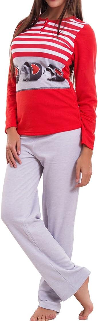 Pigiama donna balena felpato invernale maniche lunghe pantaloni TOOCOOL BE-7709