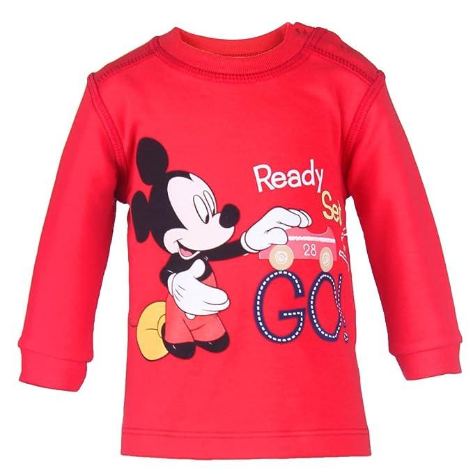 DISNEY Niños Mickey Mouse Sudadera, rojo, talla 74, 9 meses: Amazon.es: Ropa y accesorios