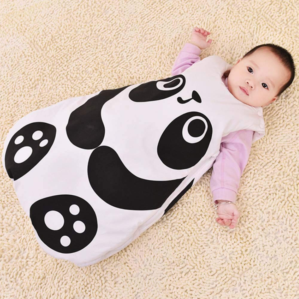 Baby Sleeping Bag for Toddlers 6-18 Months,2.5 Tog Panda Fox Super Soft Cotton Baby Sleep Nest Sleep Sack Stroller wrap Blanket