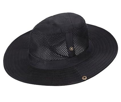 5af00a1966f Amazon.com  Sun Hat UPF 50+ Wide Brim Bucket Hat Windproof UV 50+ ...