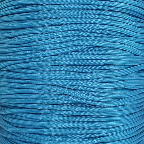 SGT KNOTS Paracord 550 Type III 7 Strand - 100% Nylon Core and Shell 550 lb Tensile Strength Utility Parachute Cord for Crafting, Tie-Downs, Camping, Handle Wraps (Caribbean - 10 ft)
