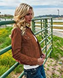 Scully Women's Suede Denim-Style Jacket Brown XX-Large