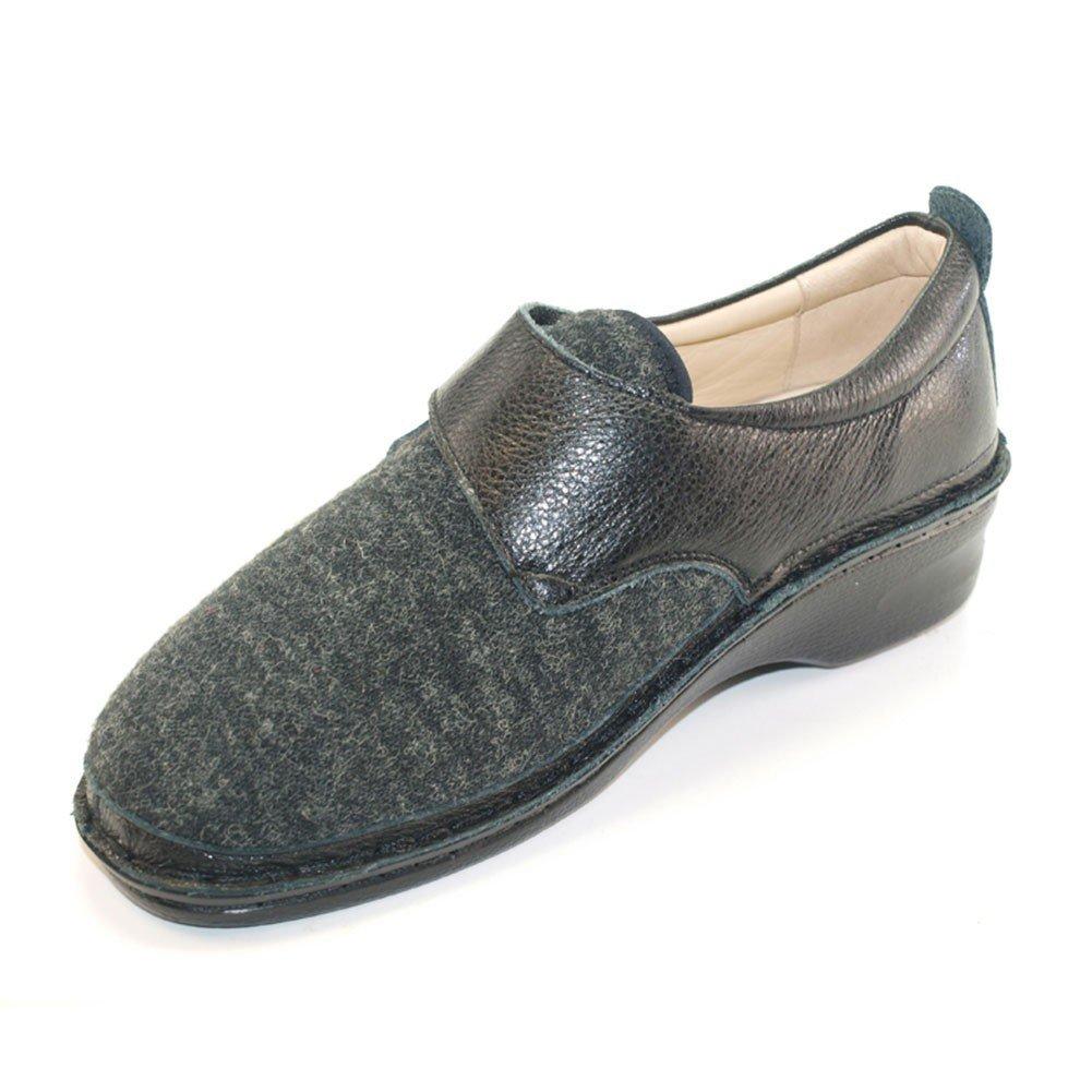 Sabatini Calzature Hergos H 548 Neroelast-Chaussure Pour Oignon valgo Confortable Large-Pair Derniers Chiffres - Noir - Noir, 38 EU