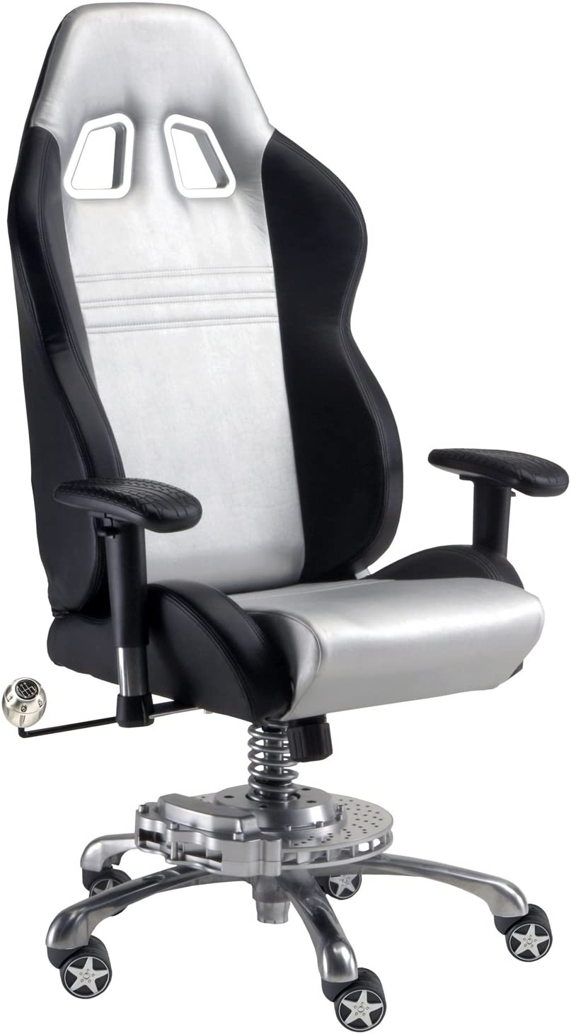 Pitstop Furniture GP1000S GT Office Chair, Silver