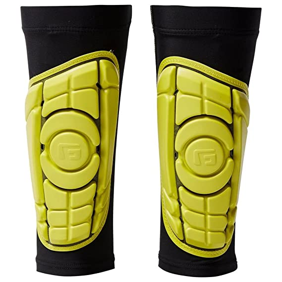 639e7b786 G-Form Men's Pro-S Elite Shin Guard for Football Shin Pads, Kickboxing,  Hockey Providing Extended High Impact Protection and Enhanced Flexibility -  Black ...