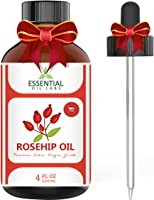 Rosehip Oil - Organic Extra Virgin Grade - Large 4 Ounce Bottle - Ultimate Beauty Companion for Face, Nails, Hair and...