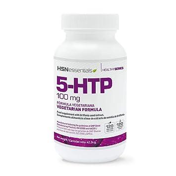 5-HTP 100mg de HSN | Extracto de Semilla de Griffonia | Menos Estrés, Mejor Sueño, Precursor de Serotonina y Melatonina | Vegano, Sin Gluten, Sin ...