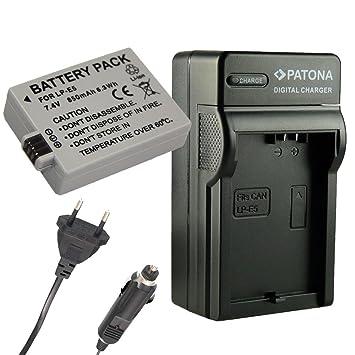 Cargador PATONA + Bateria para LP-E5 Canon EOS 1000D EOS ...