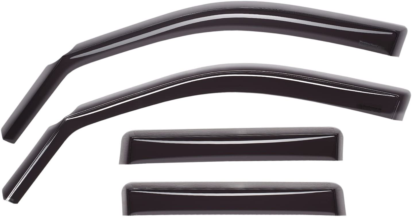 WeatherTech Custom Fit Front /& Rear Side Window Deflectors for Ford Ranger Dark Smoke