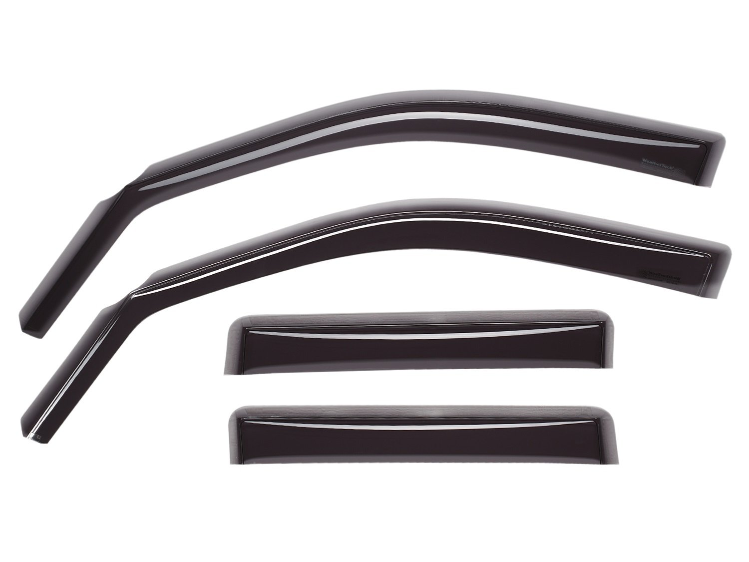 WeatherTech Custom Fit Front & Rear Side Window Deflectors for Jeep Cherokee (4 door), Dark Smoke 82059