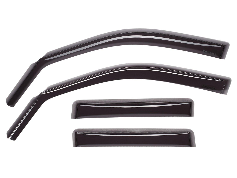 WeatherTech Custom Fit Front & Rear Side Window Deflectors for Honda Accord, Dark Smoke