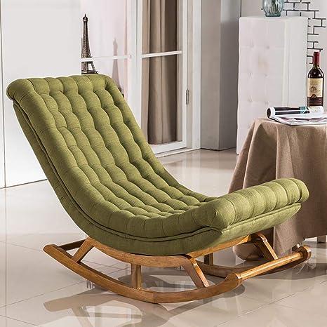 Amazon.com: Sillón de balancín, diseño moderno, tapicería de ...