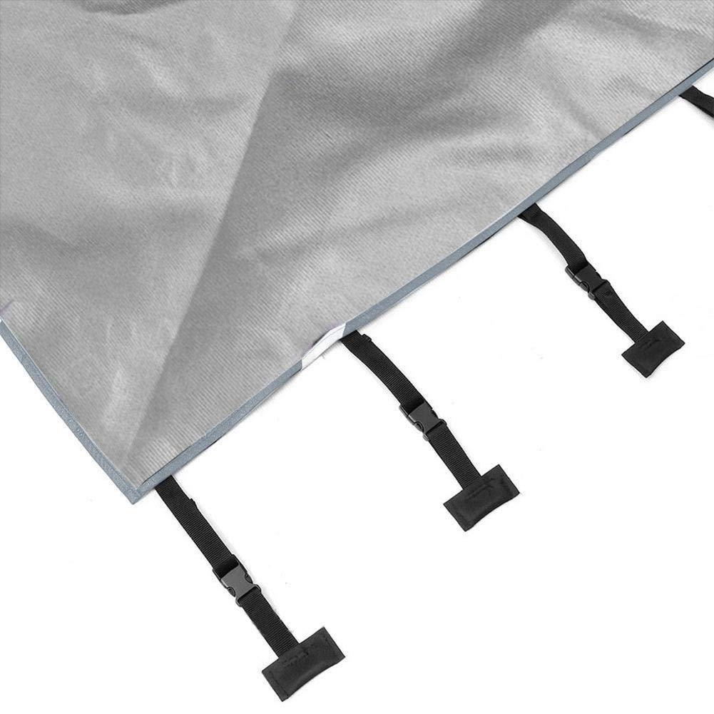 Sujetadores mejorados Caravan Front Cover bulrusely Cubierta Impermeable RV Cubierta de protecci/ón de RV Fundas para Coche con 2 Luces LED