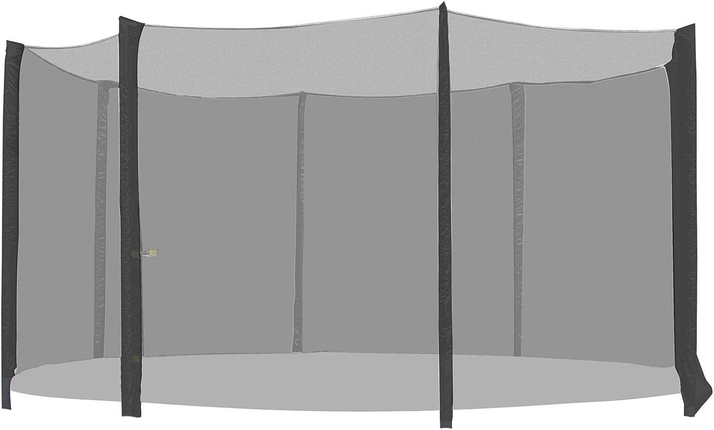 HOMCOM - Red de Seguridad Pared Protectora Cama Elastica trampolín Redonda