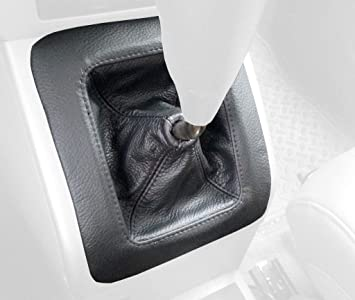 Black Leather-Black Thread RedlineGoods Shift Boot Compatible with Saturn ION 2003-07